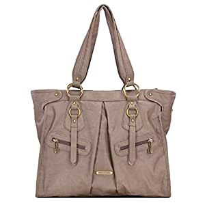 timi & leslie Dawn 7-Piece Diaper Bag Set, Taupe