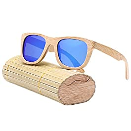 Vintage Bamboo Sunglass for Man&Women, Polarized Light, with Storage Box