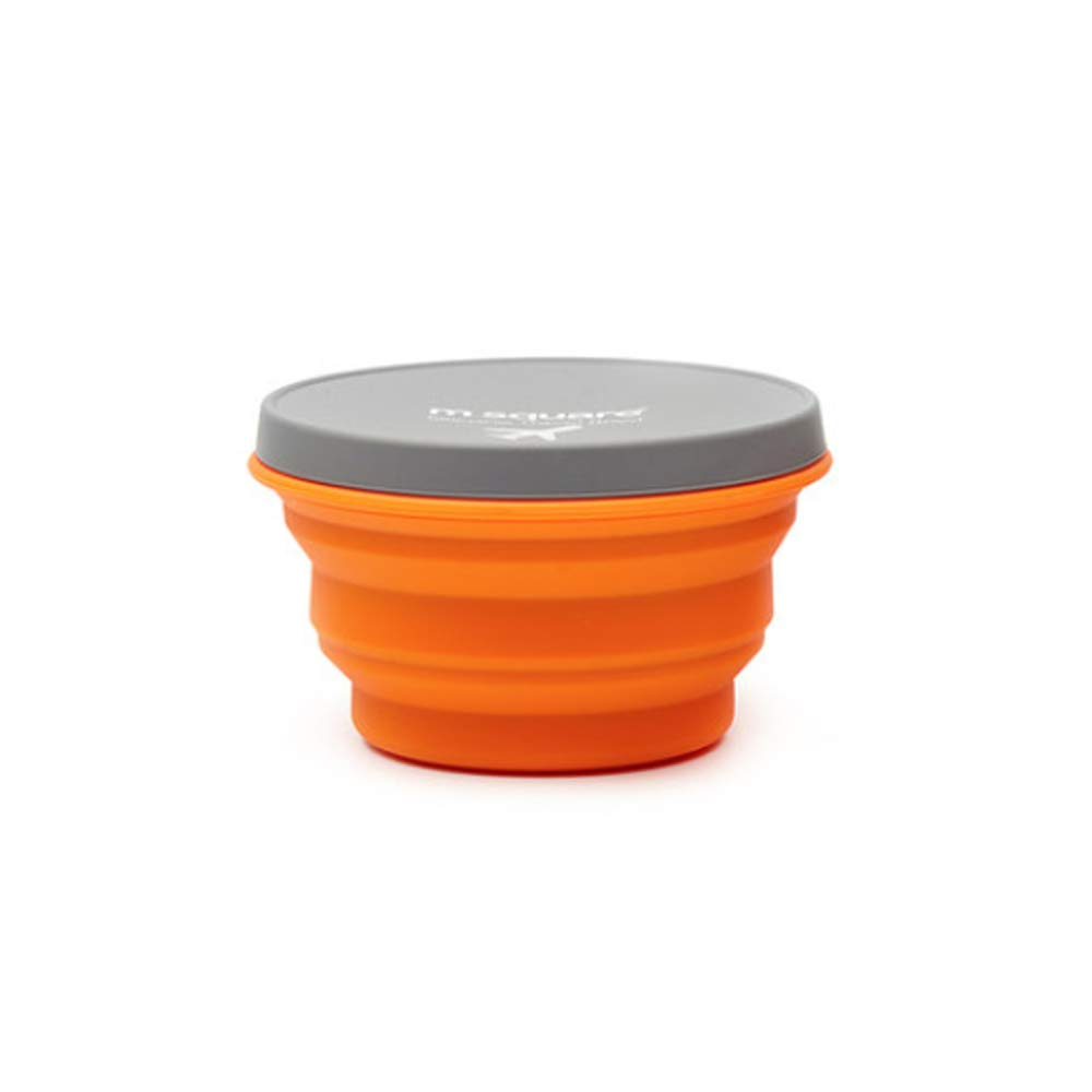 HUTTLY Silicone Folding Bowl Travel Portable Telescopic Instant Noodles Outdoor Picnic Supplies Must Camping Lunch Box Cutlery Cup Set (Orange) by HUTTLY