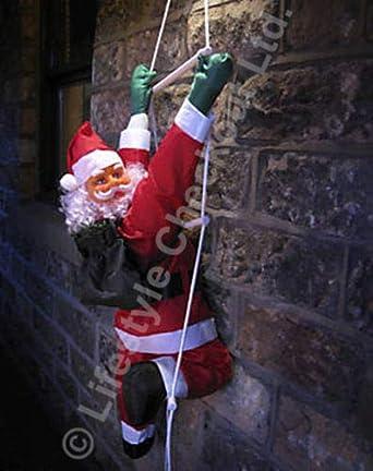 SOL60 60cm Santa que sube en escalera de cuerda de Navidad al aire libre de la decoración del jardín: Amazon.es: Iluminación