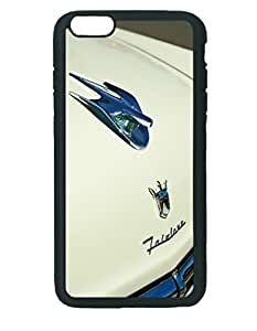 1956 Ford Crown Victoria Fairlane Hood Ornament - Emblem ~ iPhone 6 Plus Black Rubber Tpu Case ~ Silicone Patterned Protective Skin Rubber Case Cover for Apple iPhone 6 Plus with 5.5 inch - Haxlly Designs Case hjbrhga1544