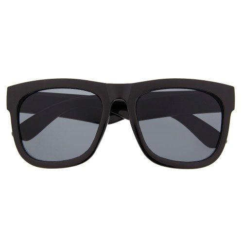 Oversized Thick Framed Large Wayfarer Inspired Vintage Fashion Sunglasses (Gloss - Men Thick For Framed Glasses