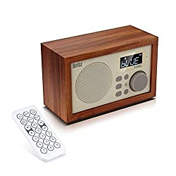 Britz Soundroom Bluetooth Speaker BA-C1 2.8x0.3x6.1 inch Full Range Unit, Base Reflex System, Clock, Alarm, Radio, Micro SD card, USB memory stick, Aux, Wireless Remote Control, EQ Effect, Wooden MDF