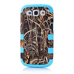 GJY3 in 1 Tree Pattern PC Silicon Waterproof Hard Case for Galaxy S3 I9300 , Green