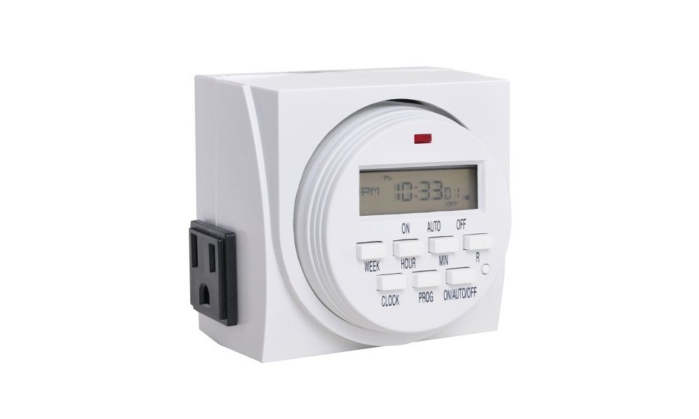 Hydrolux 7-Day Weekly Digital Dual Heavy Duty Electrical Outlet Plug Programmable Lighting Timer