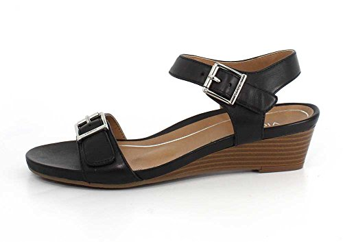 Sandals Leather Port Vionic Frances Womens Black wqFxgUP