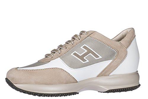 in Flock Scarpe Sneakers h Interactive Uomo Nuove Pelle Hogan Bianco p1Hnx8OO