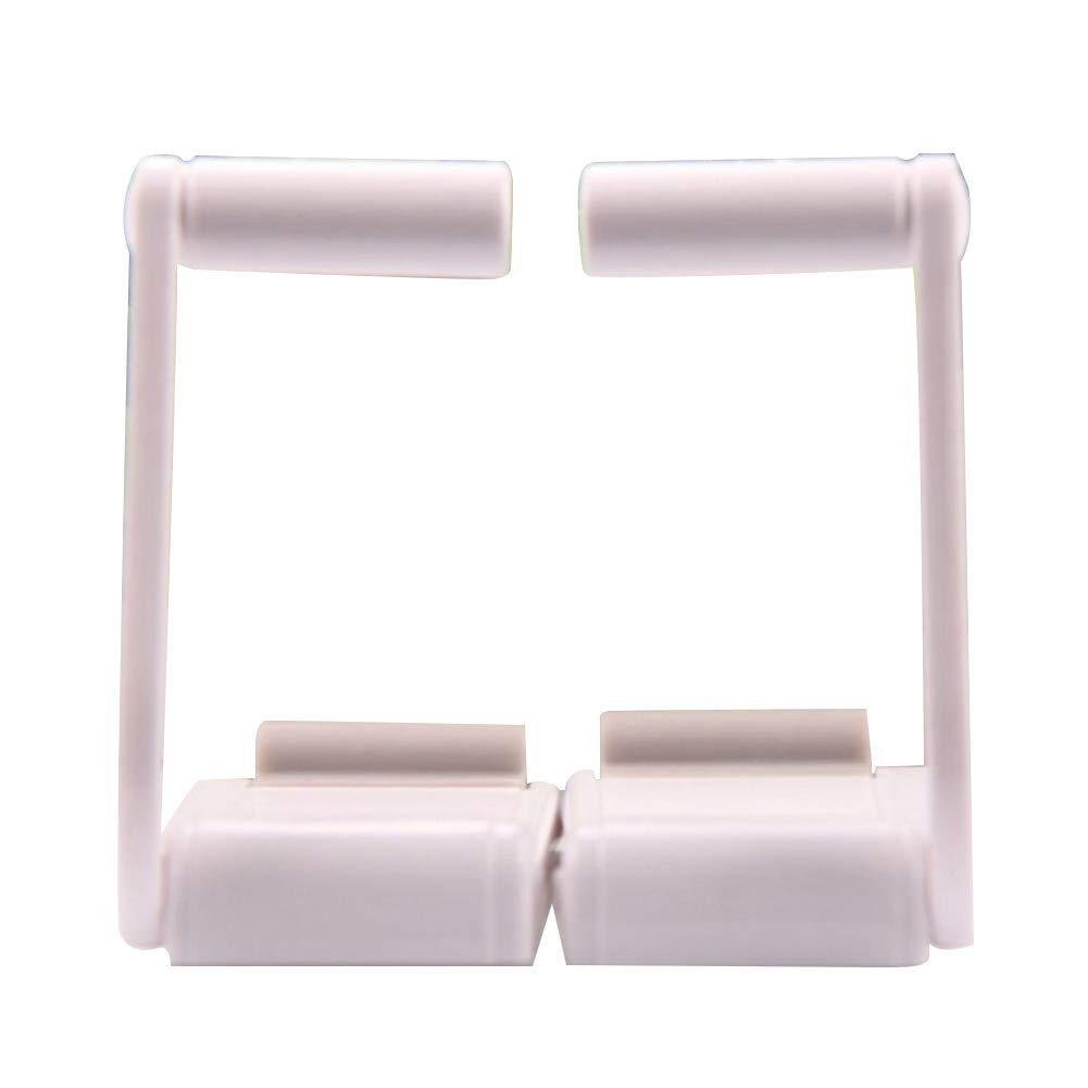 Slendima 1 Pair Magnetic Paper Tissue Towel Roll Holder 3.54'' x 1.77'' Bathroom Napkin Housekeeper Space-Saving Tools