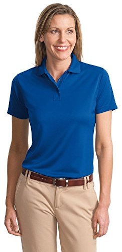 Port Authority Ladies Bamboo - Port Authority® Ladies Poly-Bamboo Charcoal Blend Pique Polo, Royal, XXXX-Large