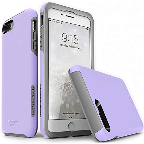 (TEAM LUXURY iPhone 7 Plus case/iPhone 8 Plus case, [Clarity Series] Purple [G-II] Ultra Defender TPU + PC Shock Absorbent Protective Case - for Apple iPhone 7 Plus & 8 Plus 5.5