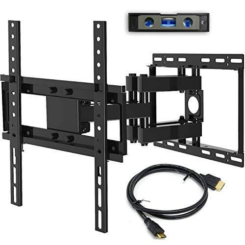 Everstone Full Motion Articulating TV Wall Mount Bracket for 26-60 Inch Flat Screes Curved