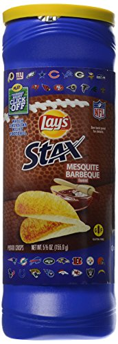 Lays Ketchup Potato Chips - Lay's Stax Mesquite Barbecue Flavored Potato Crisps, 5.5 Ounce