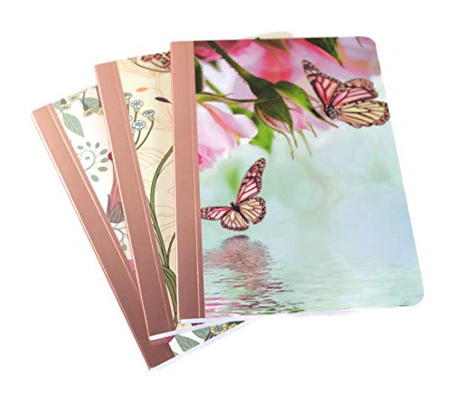 Butterfly Art Trio (For Arts Sake Trio Notes Set of 3 Mini Notebooks Foil Accents, 5 x 3.5 Inch (Butterfly))