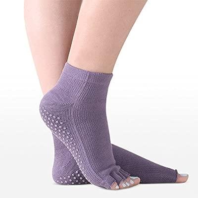 Sin dedos Yoga calcetines del dedo antideslizante en ...