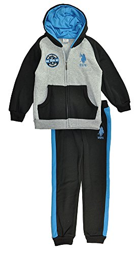 US Polo Assn Baby Boys Hoodie 2pc Sweat Pant Set (12M)