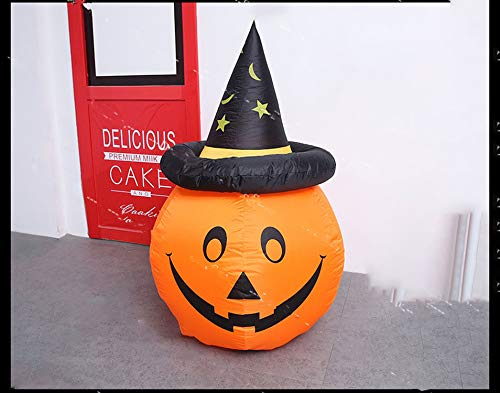 Fairy-Margot Halloween Inflatable Vampire Outer Decoration Large Party Yard Decoration Pumpkin Decoration,Pumpkin 1,110V ()