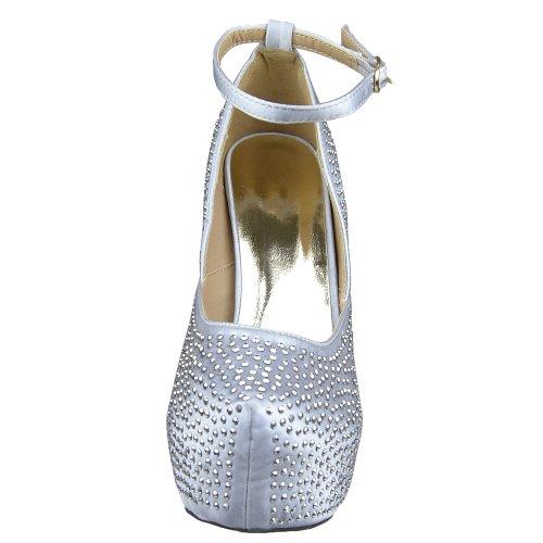Womens Platform Shoes Sexy Glitter Scoop Vamp High Heel Dress Shoes Silver Silver a6dxR8k