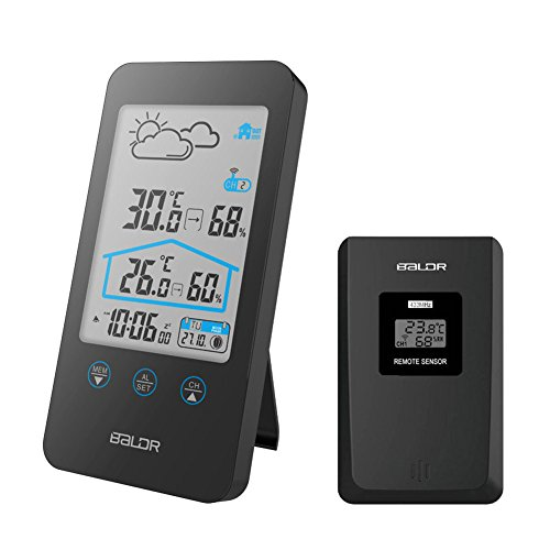 iado Weather Station, Wireless Digital Indoor Outdoor Temperature Humidity...
