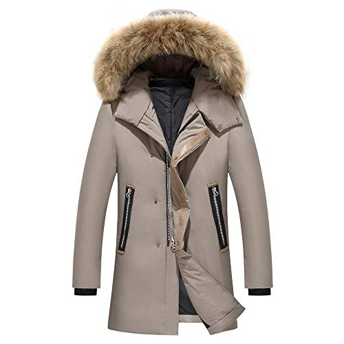 Wehor Winter Men Simple Casual Slim Warm Fur Collar Hooded 95% Duck Down Jacket