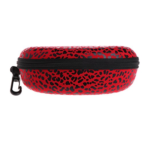 Amrka Portable Glasses Box, Leopard Print Style Reading Glasses Sunglasses Protector Case with Zipper, Sunglasses Bag, Protector Pouch - Leopard Sunglasses Print