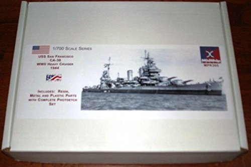 Qiyun Midship Models 1 700 U s s San Francisco CA 38 WWII Heavy Cruiser 1943 - 700 Midship Models