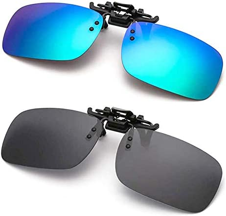 عینک آفتابی ضد قطراتی قطبیزه شده Clip-on برای عینک های تجویز شده
