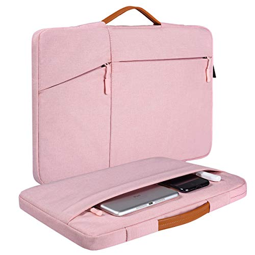 14-15 Inch Laptop Briefcase Sleeve for Dell Latitude 14/HP Chromebook 14, Lenovo Flex/Lenovo Yoga 14, Acer Spin 3 14, Asus Chromebook/Vivobook 14, HP Pavilion x360 14 Briefcase Sleeve Case(Pink)