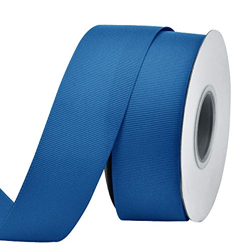 (Ribest 1-1/2 inch 25 Yards Solid Grosgrain Ribbon Per Roll for DIY Hair Accessories Scrapbooking Gift Packaging Party Decoration Wedding Flowers Royal)