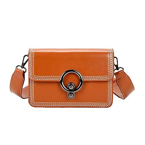 Paquete pequeño paquete Xiekua lock hembra sobres All-Match Bolsa Bolso pequeño, negro Brown