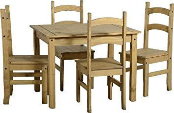 Corona Dining Table and Chair Sets Full Range Pine Dining Room