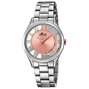 4a77e7883ea3 Lotus Reloj Analógico para Mujer de Cuarzo con Correa en Acero Inoxidable  18395 3  Amazon.es  Relojes