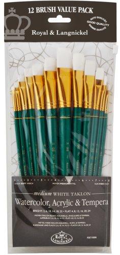 Royal Langnickel Soft Grip Artists Quality Brush Set For All Media SG305 5 Pcs
