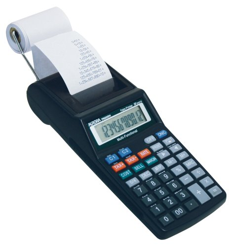 small adding machine with tape - 2