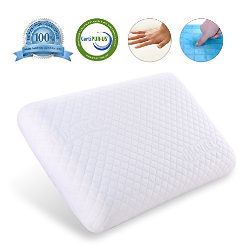 HANKEY Luxury Cooling Gel Memory Foam Pillow By Orthopaedic Neck & Back Support, Soft...