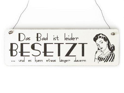 Amazonde Shabby Vintage Schild Türschild Das Bad Ist Leider