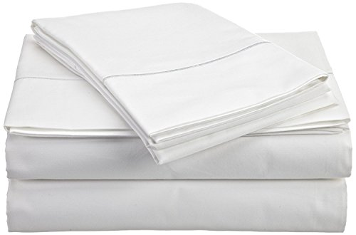Best Quality Heavy Fabric Sheet Set Queen Size  White Solid