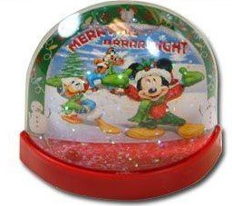 Disney Mickey Mouse Lenticular Plastic Snowglobe