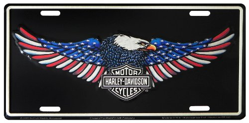 American Eagle Plate - Harley Davidson American Eagle Metal License Plate from Redeye Laserworks