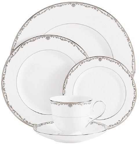 OKSLO Coronet platinum bone china saucer, crafted of fine bone china by Model d2983