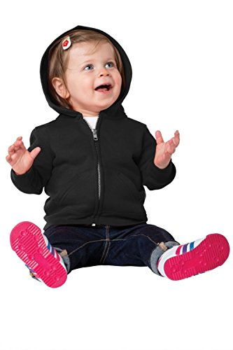 Precious Cargo unisex-baby Full Zip Hooded Sweatshirt 12M Jet Black