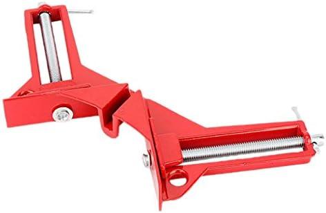 FLAMEER Profeesional 90度直角マイターコーナークランプ3イン容量額縁ジグ、8パック、赤