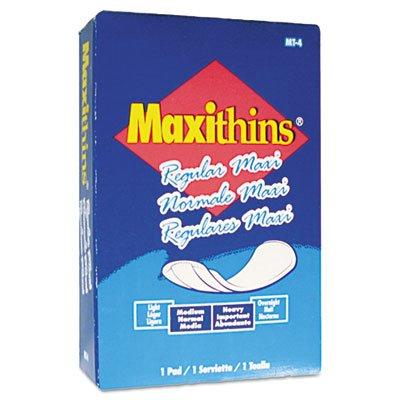 HOSPECO MT4FS Maxithins Vended Sanitary Napkins (Case of 100)