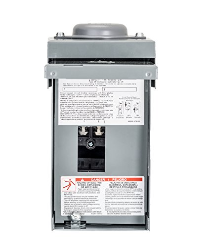 Square D by Schneider Electric QO2L40RBCP QO 40 Amp 2-Space 2-Circuit Outdoor Main Lug Load Center,