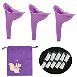Kyпить Female Urination Funnel Device-Girl Ladies Lightweight Silicone Portable Outdoor Standing Pee Reusable Urine Urinary Camping Travel Woman Standing Toilet Stand Up Urinal Purple на Amazon.com