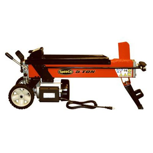 SpeeCo LS40100500 Red 5-Ton Electric Log Splitter