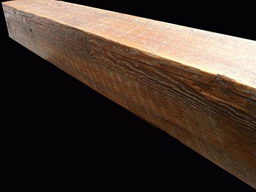 Reclaimed Barnwood Beam Fireplace Mantel (Wood, 8