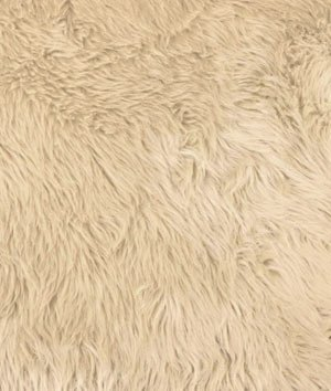 (Camel Shag Fur Fabric - by the Yard by Online Fabric)