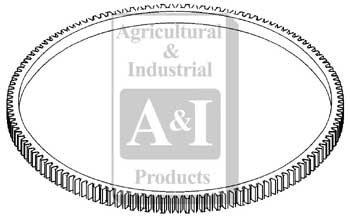 A&I Products Ring Gear, Flywheel (DSL ENG.) Replacement for Case-IH Part Nu...