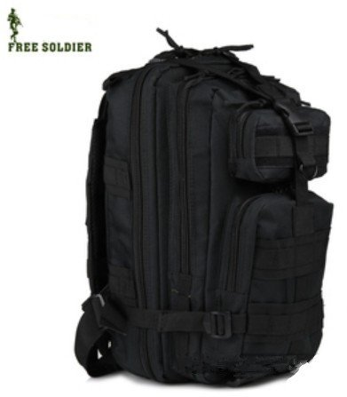 Free Soldier Upgrade 3P Ride Shoulders Backpack for Camping and Hiking (Black), Outdoor Stuffs