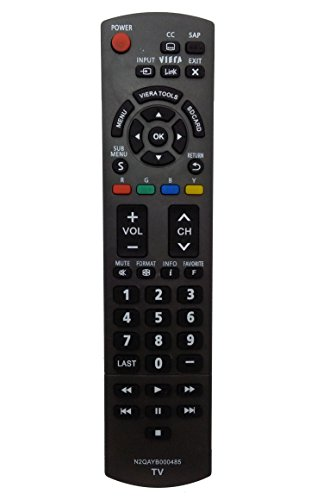 Vinabty New N2QAYB000485 Replaced REMOTE fit for PANASONIC TV TC-P50U2 TC-P50X2 TC-P54S2 TC-P58S2 TC-P65S2 TH-32LRU20 TH-37LRU20 TH-42LRU20 TC-42PX34 TH-32LRH30U TH-32LRU30 TH-42LRU50 TH-37LRU50